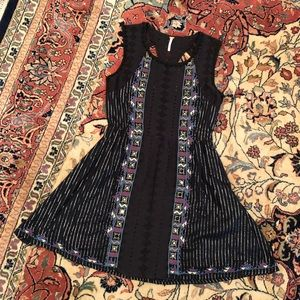 Free people embroidered mirror detail dress